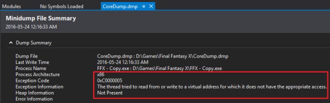 dumpinfo